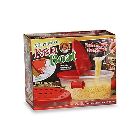 pasta boat recipe book microwave pasta boat bed bath beyond