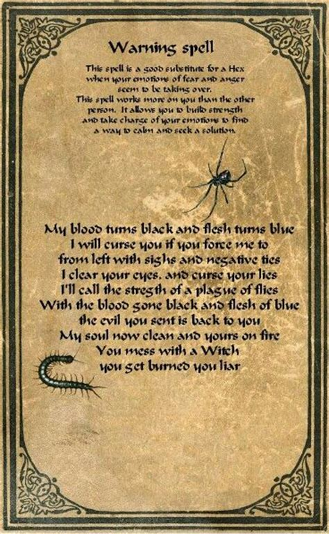 magick to enemies and rivals books warning spell wiccan spells