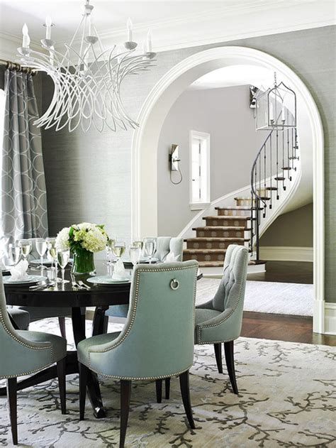 Dining Room With Gray Wallpaper Where Can I Purchase The Grey Grasscloth Wallpaper