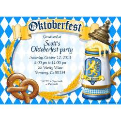 oktoberfest personalized invitation each party and