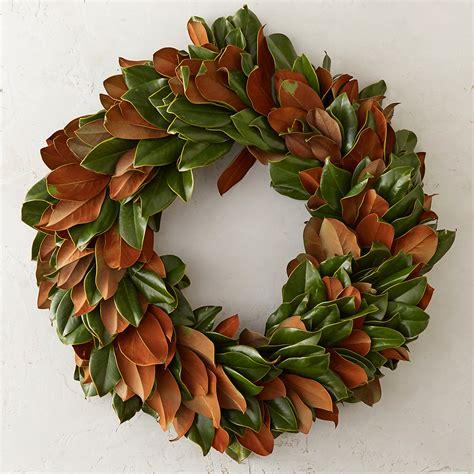 Martha Stewart Kitchen Collection fresh magnolia wreath terrain