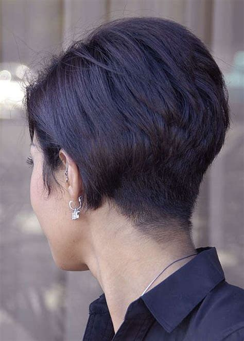 super short stacked bob stacked super short bob i love the back of this short cut