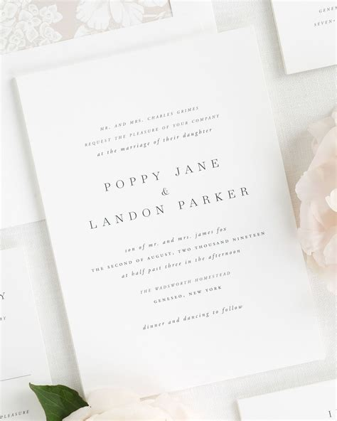 Print Wedding Invitations by Poppy Wedding Invitations Wedding Invitations By Shine