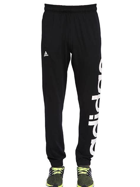 adidas jogger pants lyst adidas originals climalite cotton blend jogging