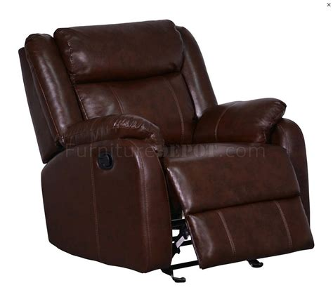 Brown Bonded Leather Sofa U9303 Motion Sectional Sofa In Brown Bonded Leather By Global