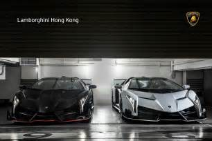 Newest Lamborghini Veneno Two New Lamborghini Veneno Roadsters Delivered In Hong