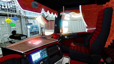 interior rojo scania  euro truck simulator