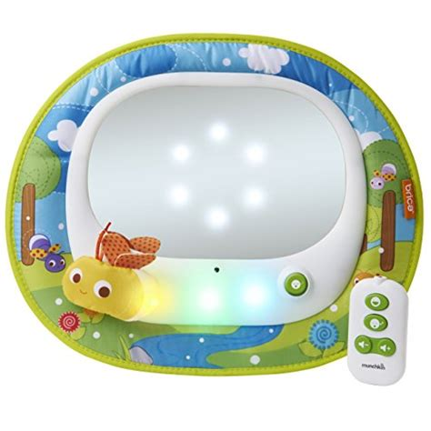 baby car mirror with remote and lights brica firefly baby in sight car mirror toys toys