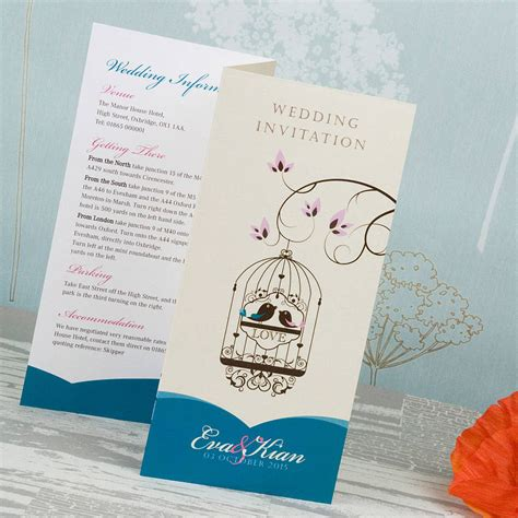 not on the high elegance wedding invitation bird cage wedding invitation by wedding print notonthehighstreet