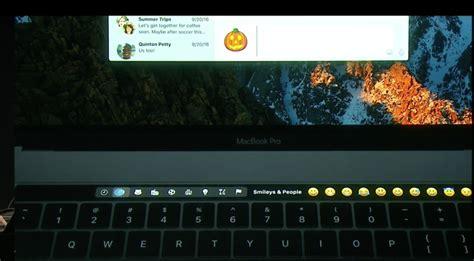 emoji keyboard mac macbook pro s crazy touch bar puts emoji controls and