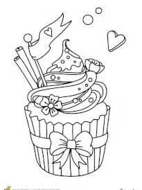 Coloriage cupcakes sur Hugolescargot.com