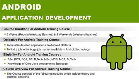 online tutorial for android application development android application development course in nashik