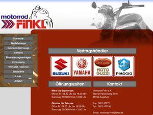 Motorrad Finkl E K Augsburg by Motorrad Finkl E K In Augsburg Motorradh 228 Ndler
