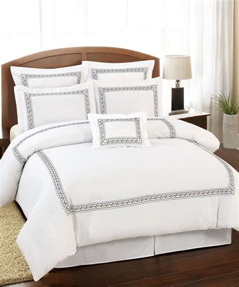 white leaf ramsey hotel comforter set