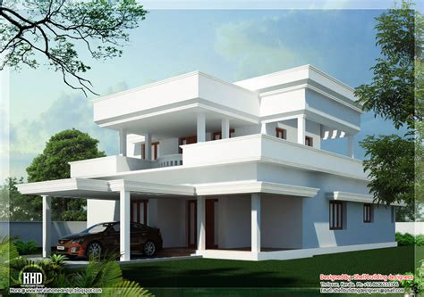 Home Design Roof Plans flat roof home design kerala home design architecture