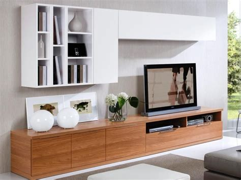 simple tv cabinet design home theaters pinterest tv low walnut tv unit with 2 white wall cabinets and display