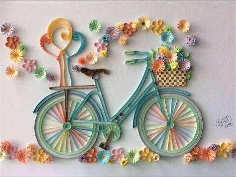 How To Make A Paper Bike Easy - quilling bicycle flowers filigrana paper