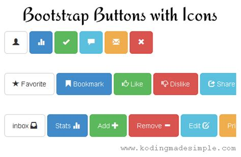 bootstrap tutorial buttons how to create custom twitter bootstrap buttons with icons