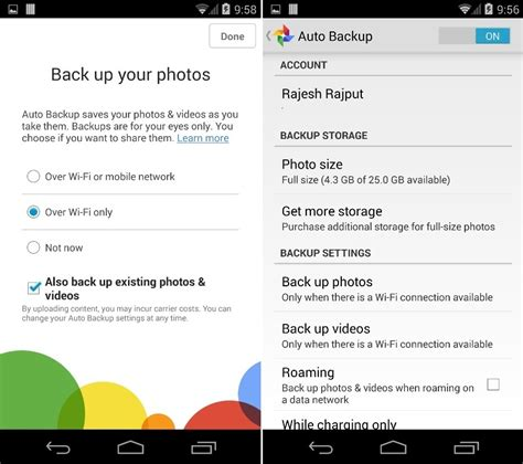 Google Images Backup | auto upload your android pictures to google dropbox