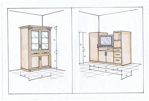 sketsa meja tv berikut lemari asesori rimba asia furniture