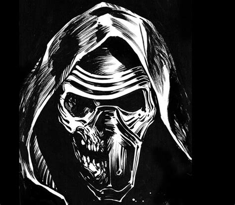 kylo ren drawing by moreau matt