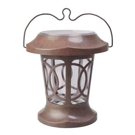 Moonrays Bradbury Brown Solar Powered Outdoor Hanging Solar Powered Hanging Lights