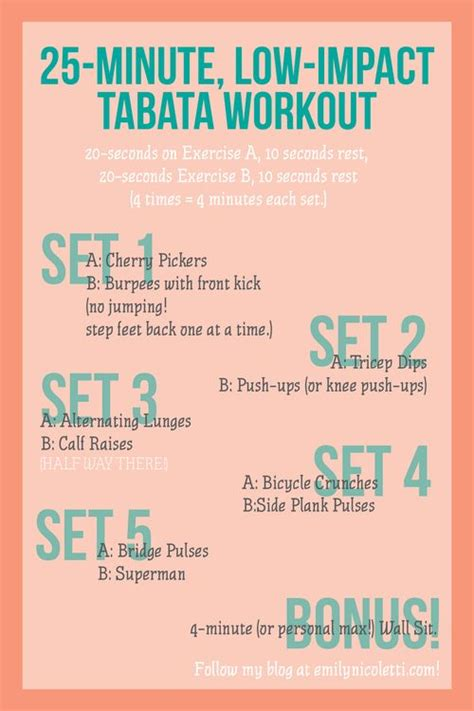 low impact tabata workout beginner and low impact