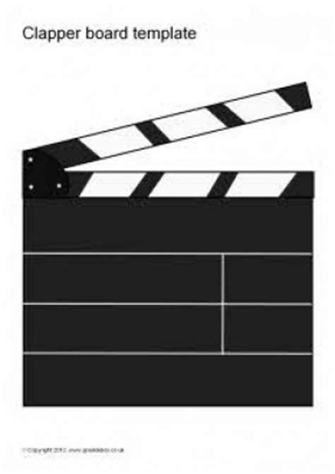 Hollywood Clapper Hollywood Thing Thing 1 Editable Template