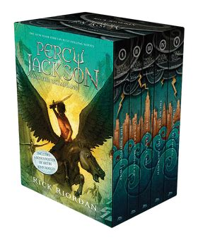 The Lightning Thief Cover 8th Percy Jackson Oleh Rick Riordan percy jackson and the olympians 5 book paperback boxed set