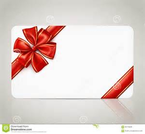 gift card template gift card with ribbon bow stock vector image 60179038