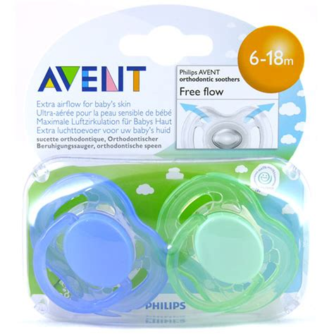 avent freeflow silicone soothers 6 18 months ebay