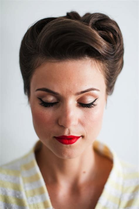 hairstyles from the 50s and 60s wedding updos inspired by the 50s 60s