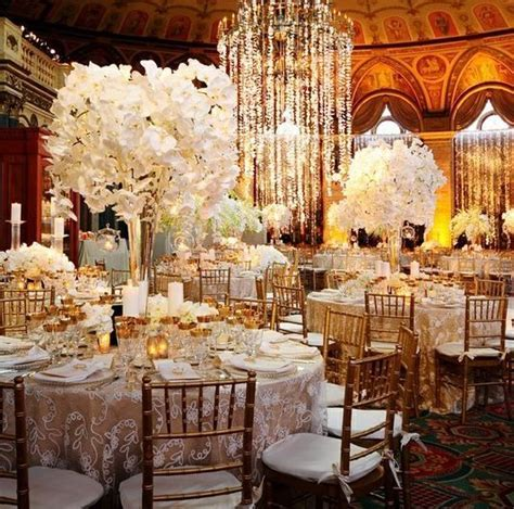 vintage glam wedding reception   white reception wedding