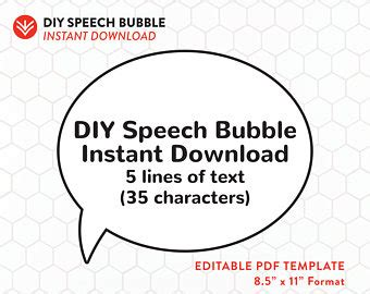 editable speech template etsy your place to buy and sell all things handmade