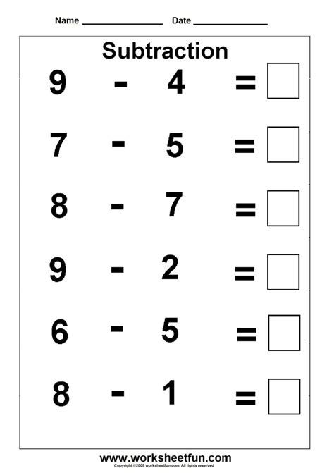 for printable printable math worksheets for kindergarten addition