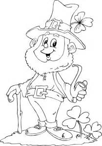 leprechaun holding pipe coloring page coloring