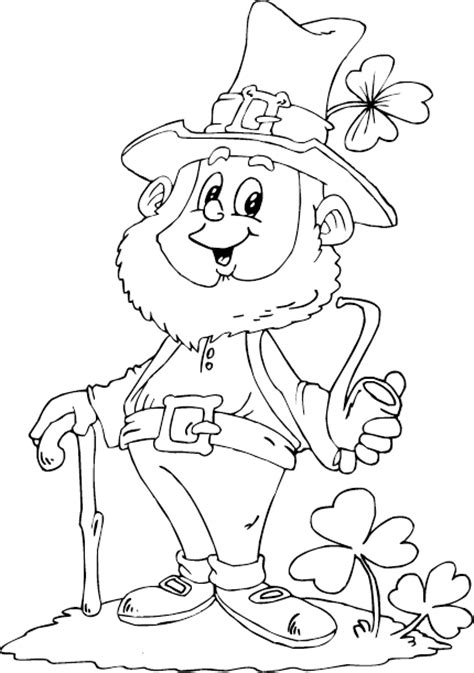 printable coloring pages leprechaun leprechaun holding pipe coloring page coloring