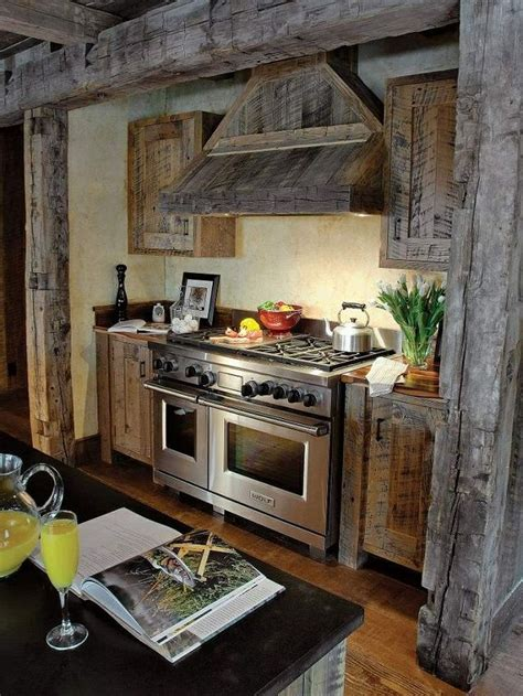 barnwood kitchen for log home 48 best images about log cabins rustic houses on