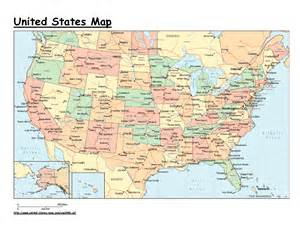 map of united states showing states states map