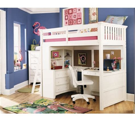white loft bed with desk underneath loft bed with desk and dresser storage underneath organization kid bedroom