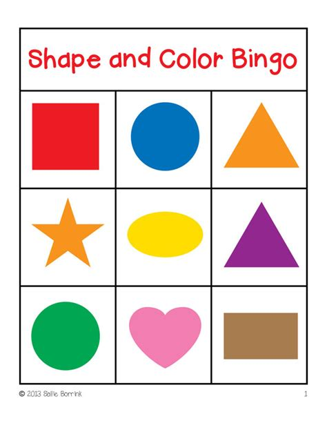 printable game board shapes shapes and colors bingo game cards 3x3 sallieborrink com