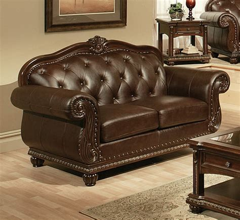 cherry brown leather sofa sale 5300 00 anondale 3 pc top grain leather sofa set