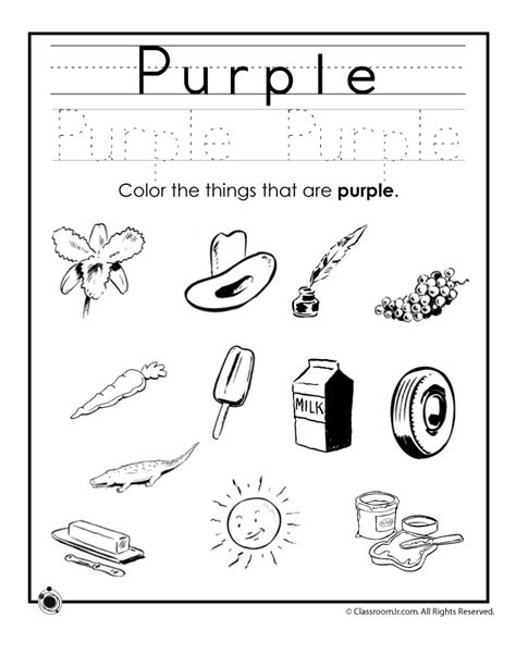 purple coloring pages preschool learning colors worksheets for preschoolers color purple