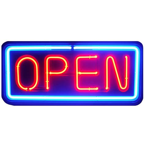 Led Sign Open neon open sign store business bright light display led large big shop blue ebay