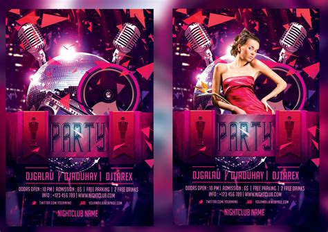 club flyer template club flyer template by mihaimcm94 on deviantart