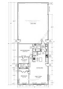 pole barn living quarters floor plans