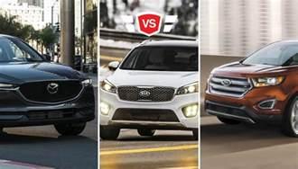 ford edge vs mazda cx 5 vs kia sorento what s the best buy