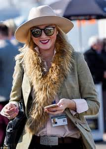 Be With Two Tone Scarf With Autumn Motif zara tindall arrives for day of cheltenham festival
