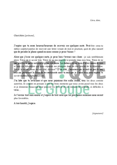 modele de lettre damour gratuit