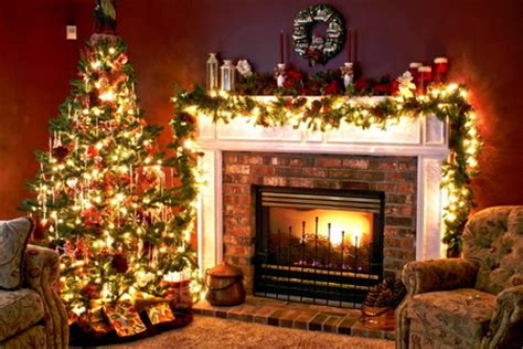 IRBOB SEVENFOLD: Christmas Tree and Fireplace wallpaper